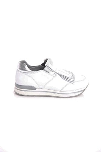 In Frange Hogan Bianca H222 Con Pelle Sneakers Donne ZvzwpBqO6