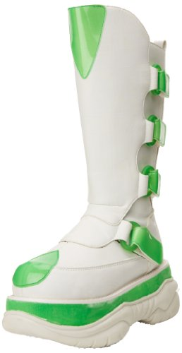 Demonia NEPTUNE-309UV Wht Pu-UV Lime Size UK 9 EU 42