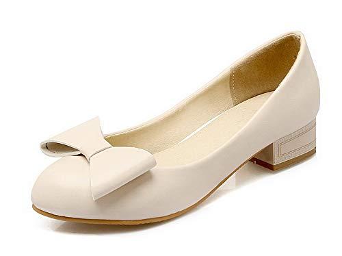 Luccichio Flats FBUIDD006089 Tacco Ballet Donna Albicocca AllhqFashion Puro Basso Tirare Cxq1ZxtUw