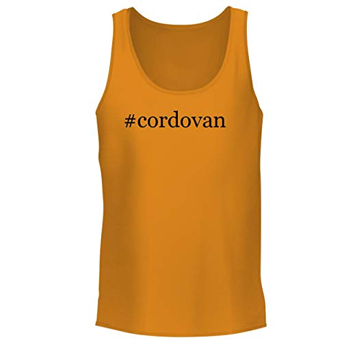 BH Cool Designs #Cordovan - Men's Graphic Tank Top, Gold, XX-Large