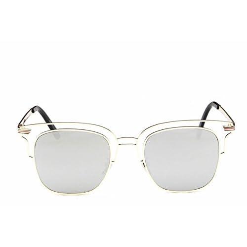 c13cf1a4d3a50 Gafas de Sol de Moda Gafas de Sol de Metal de Lente de Color de Las ...