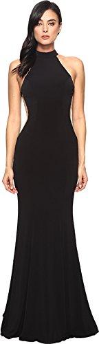 Black Dress Faviana (Faviana Women's Jersey Halter w/Illusion Cut Out 7943 Black Dress)