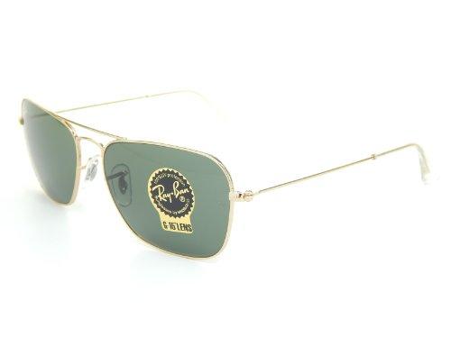 New Ray Ban Caravan RB3136 001 Artista/Crystal Green 55mm Sunglasses