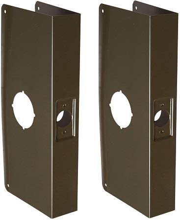 Don-Jo 12-CW 22 Gauge Stainless Steel Classic Wrap-Around Plate Pack 5-1//8 Width x 12 Height Oil Rubbed Bronze Finish for Cylinder Door Lock with 2-3//4 Hole 2-