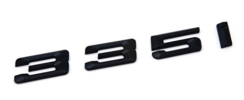 335i Matte Black Trunk Lid Car Rear Badge Emblem Decal Number Letter for BMW 3 Series E90 E91 F30 F31