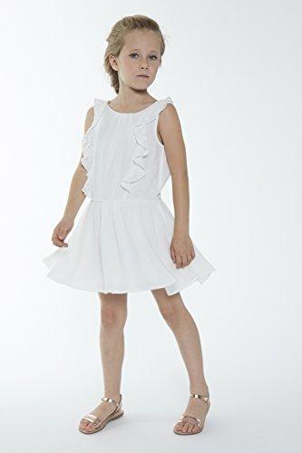 manzanas ni a blanco Vestido roto 3 blanco de de UfUq6