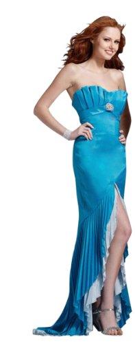 Clarisse Plissé Robe De Bal Sans Bretelles Avec Fente 1382 Turquoise