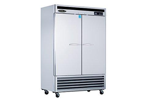 Kool-It KBSR-2 Stainless Steel Double Door Refrigerator Bottom Mount Compressor, 53-115/128
