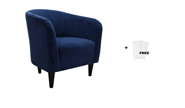 Fabulous Amazon Com Mainstays Microfiber Tub Accent Chair Navy Squirreltailoven Fun Painted Chair Ideas Images Squirreltailovenorg