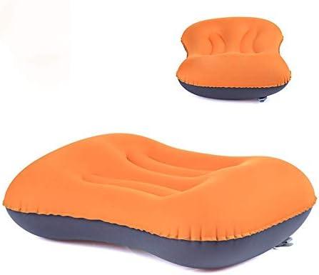 首と腰のサポートのための超軽量の膨脹可能な旅行/キャンプ枕、ハイキングのための圧縮性のエアクッション、キャンプ、バックパッキング(2Pcs)