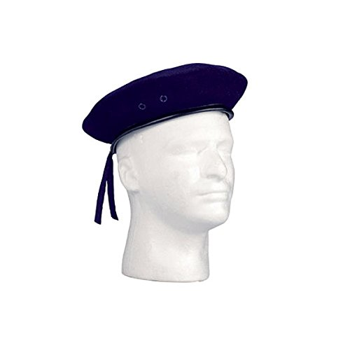 Rothco Gi Type Beret/Wool, Navy Blue, Size 7.5