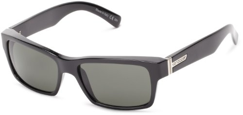 VonZipper Fulton Square Sunglasses,Black Gloss,One Size