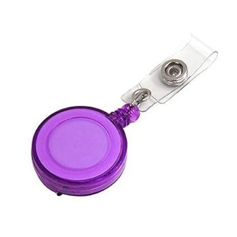 SODIAL(TM) Llavero Multicolor Cadena Retractil con Clip de Cinturon Porta Identificacion Carrete de Insignia