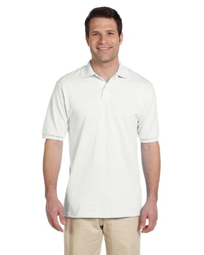 Jerzees Adult Jersey Polo with SpotShield (White) (3XLARGE)