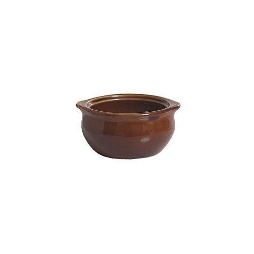 - Tuxton BAS-1203 Vitrified China Onion Soup Crock, 12 oz, Caramel (Pack of 12),