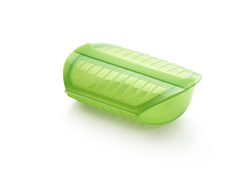 Lekue Steam Case with Draining Tray for 3 to 4 Person, Green