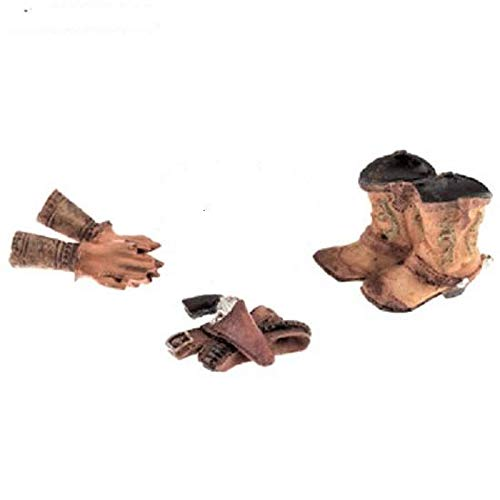 Western Accessories Miniatures Decoration Set Cowboy Hat, Boots, Pistol Holder Birthday Wedding Cake Decor Gift 3 Pc