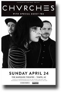Churches Poster - 11 x 17 Chvrches Concert Promo