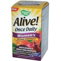 Nature's Way Alive Once Daily Women's Multi Ultra Potency, Tablets, 60-Count