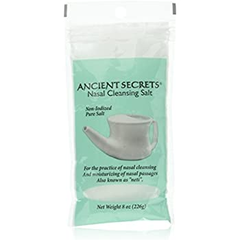 Ancient Secrets Nasal Cleansing Pot Salt 8 Ounce Carefully Selected Materials Health & Beauty
