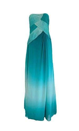 BCBGMAXAZRIA Ombre Everglade Silk Chiffon Maxi Dress Green ()