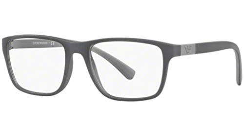 Emporio Armani Glasses Frames - Emporio Armani EA3091 Eyeglass Frames 5502 - Matte Grey 53mm
