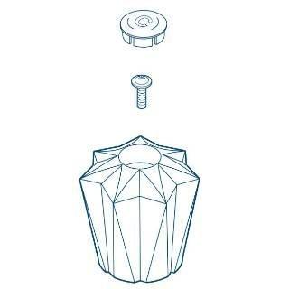 Peerless RP43991 Two Clear Knob Handle Kit