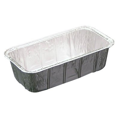 Pactiv Economy Loaf Pan Silver, 29 oz, 7.375 inch Length x 3.625 inch Width x 2.343 inch Height | 500/Case