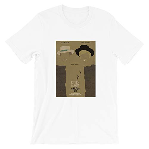 Butch Cassidy and The Sundance Kid Artistic Hummus Child Movies Graphic Gift for Men Women Girls Unisex T-Shirt (White-2XL)