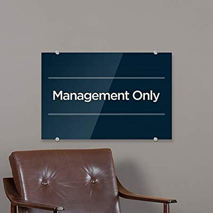 Basic Navy Premium Brushed Aluminum Sign CGSignLab 5-Pack Management Only 27x18