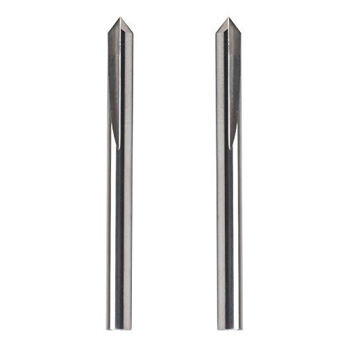 EnPoint 1//8 Carbide Engraving Bit 3.175mm Shannk 0.3mm Tip 2 Flutes Tough Tip Cone Shape Metal Engraving Bit CNC Marking Conical V-Bit for Steel Aluminum Brass MDF Wood 45 Degree Engraving Bit