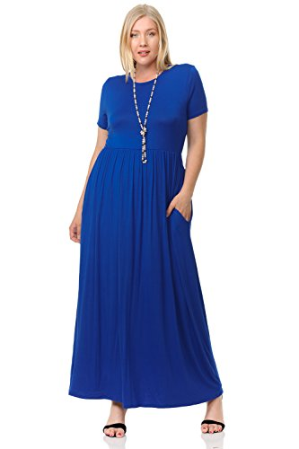 Pastel by Vivienne Women\'s Short Sleeve Maxi Dress with Pockets in ...
