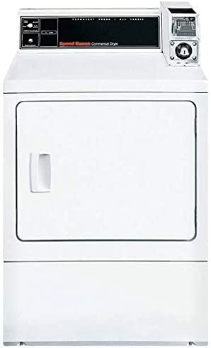 Not Included Coin Slide Payment System ft Speed Queen SDESXRGS173TW01 27 Commercial Electric Dryer with 7 cu Galvanized Steel Cylinder Front Serviceable Capacity in White