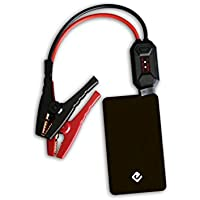 JUNO JUMPER 2-Pocket Car Battery Jump Starter and 6000mAh Portable Charger for Smartphones and Tablets - Black