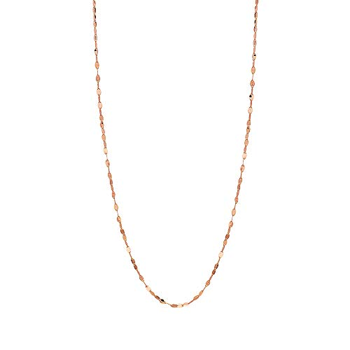 - 10K Solid Gold 2.0MM Diamond Cut Mirror Chain Necklace -Unisex Sizes 14