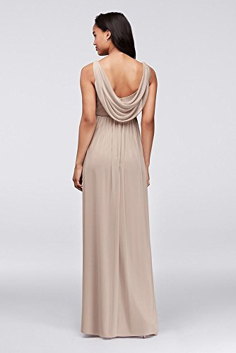 Back David's Cowl Mesh Bridesmaid Pacific Detail F15933 Swooping Long Bridal Style Dress F0FZq