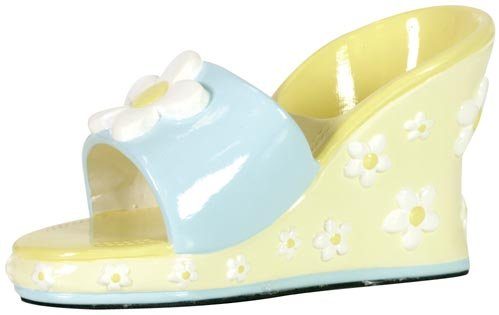 In Sights Fancy Shoes Ceramic Cell Phone Stand - Carol Daisy Wedge