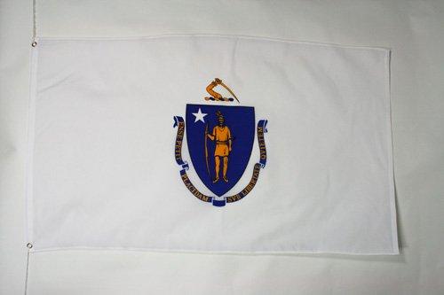 MASSACHUSETTS FLAG 2' x 3' - US STATE OF MASSACHUSETTS FLAGS 60 x 90 cm - BANNER 2x3 ft - AZ FLAG