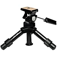 SLIK Mini-Pro V Tripod with 2-Way Pan/Tilt Head, Black (611-352)