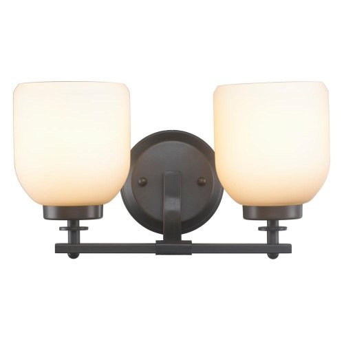 World Imports Ew1005ob4 Kelly Oil Rubbed Bronze 2-light Bathroom Vanity Light