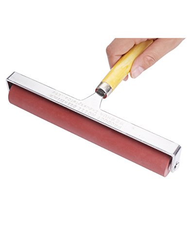 MEEDEN Hard Rubber Brayer Roller 8-inch for Printmaking Craft Projects by MEEDEN