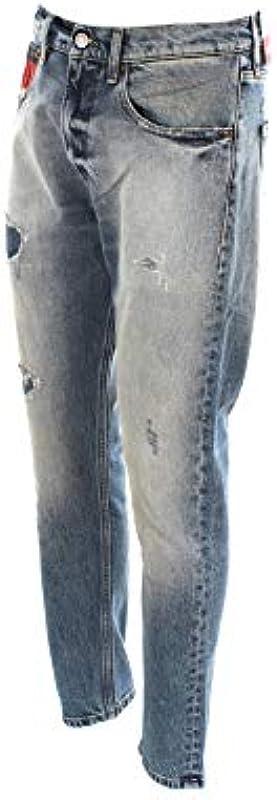 Tommy Jeans DM0DM07337 Relaxed Tape dżinsy męskie - krÓj luźny: Odzież