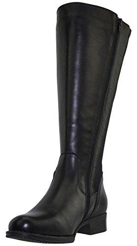 JJ Footwear Women's Messina XXL 49.4 cm - 57.1 cm Schwarz Dream/Stretch Leather Boot 36 F EU