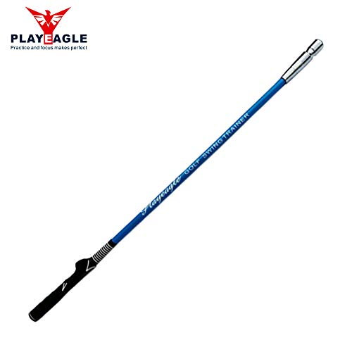 (PLAYEAGLE Golf Swing Trainer for Strength and Tempo Training Left Handed/Golf Training Aids/Golf Gift 1 Compact Indoor/Outdoor Practice (Blue) )