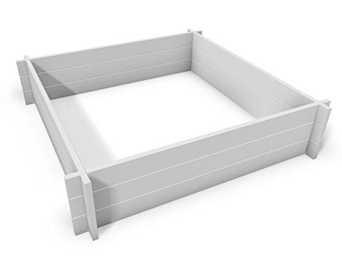 Hudson 48 W x 48 L Screwless Vinyl Garden Bed