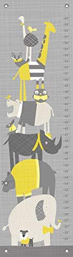 Oopsy Daisy Happy Animal Herd Growth Chart, Gray/Yellow, 12