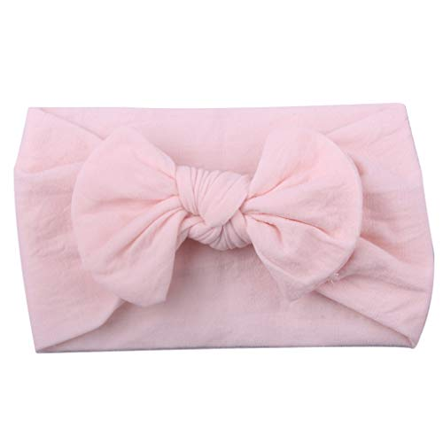 Zohto Girls Baby Toddler Turban Solid Headband Hair Band Bow Accessories Headwear -