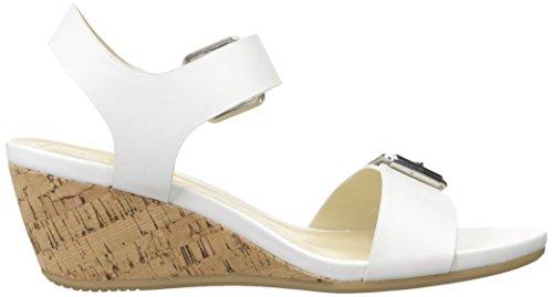 Andrew Geller Femmes Sandale Farran Wedge Blanc