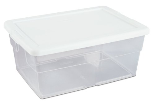 HNF Kitchen Dry Food Storage Tools Cases Shoes Toys Boxes Pencil Stationary Store Case (1pc/pack, 16 Quart) (16qt Storage Containers)