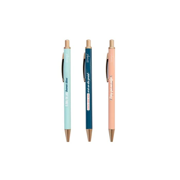 31WwAA82zZL Haz clic aquí para comprobar si este producto es compatible con tu modelo Set de escritura que incluye estuche y tres bolis con tinta negra, azul y roja Peso: 233gr